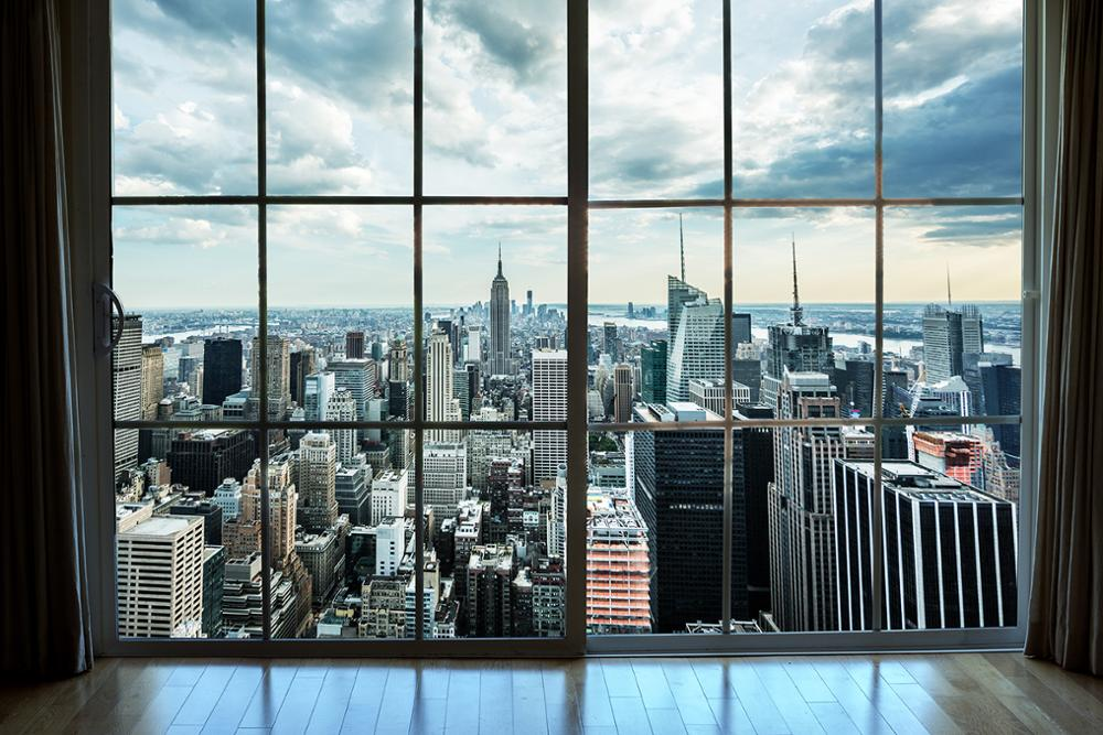 Capisco Office Glass French Window City Building Landscape Scene Photography Backgrounds Photographic Backdrop For Photo Studio enlarge