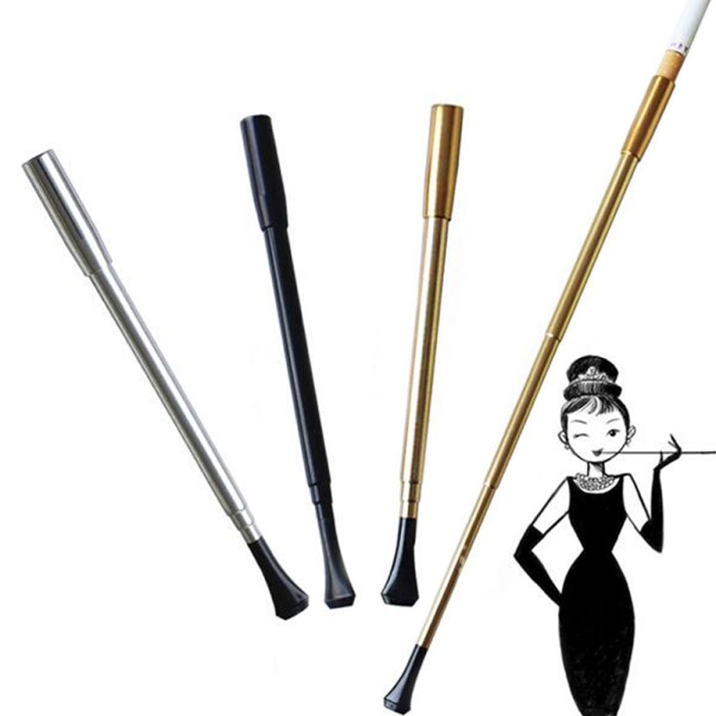 Nouveau tuyau de fumer de étui à cigarettes Vintage rétractable de longue série professionnelle des femmes ou accessoires photographiques chauds