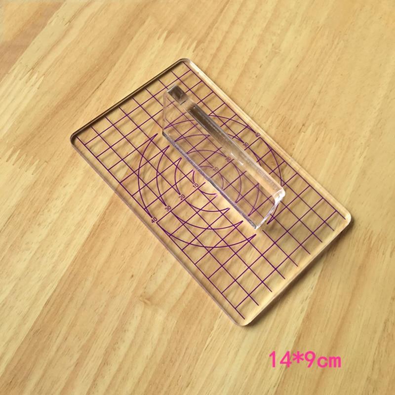 Tipo T acrílico transparente sello presión arcilla barro Ultra ligero arcilla placa herramientas juego de alimentos Rub Beads herramienta DIY Placa de presión
