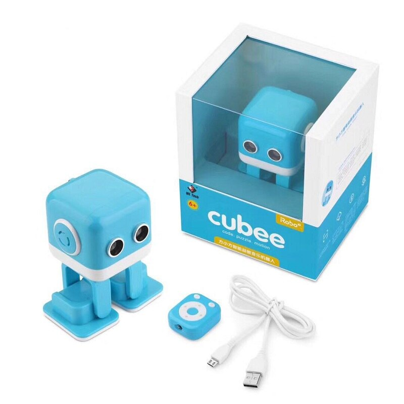 WL TOYS Cubee RC Robot Toy Smart Bluetooth Speaker Intelligent Musical Dancing Machine LED Face Desk