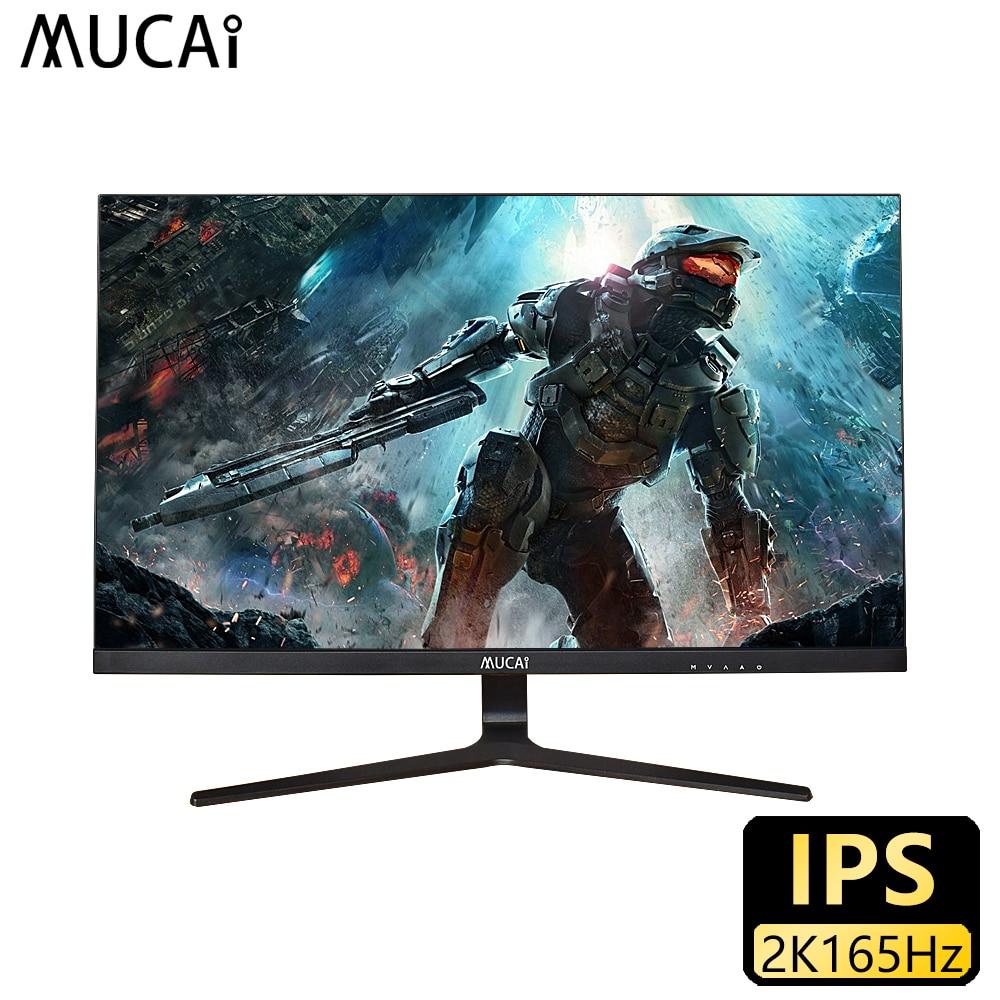 MUCAI 27 بوصة 2K مراقب 165 هرتز حاسوب شخصي مكتبي شاشة الكريستال السائل الألعاب لوحة مسطحة شاشة الكمبيوتر LED 2560*1440 HDMI/DP