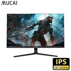 MUCAI 27 дюймов 2K монитор 165 Гц Настольный ПК ЖК-дисплей игровая плоская панель экран компьютер светодиодный 2560*1440 HDMI/DP