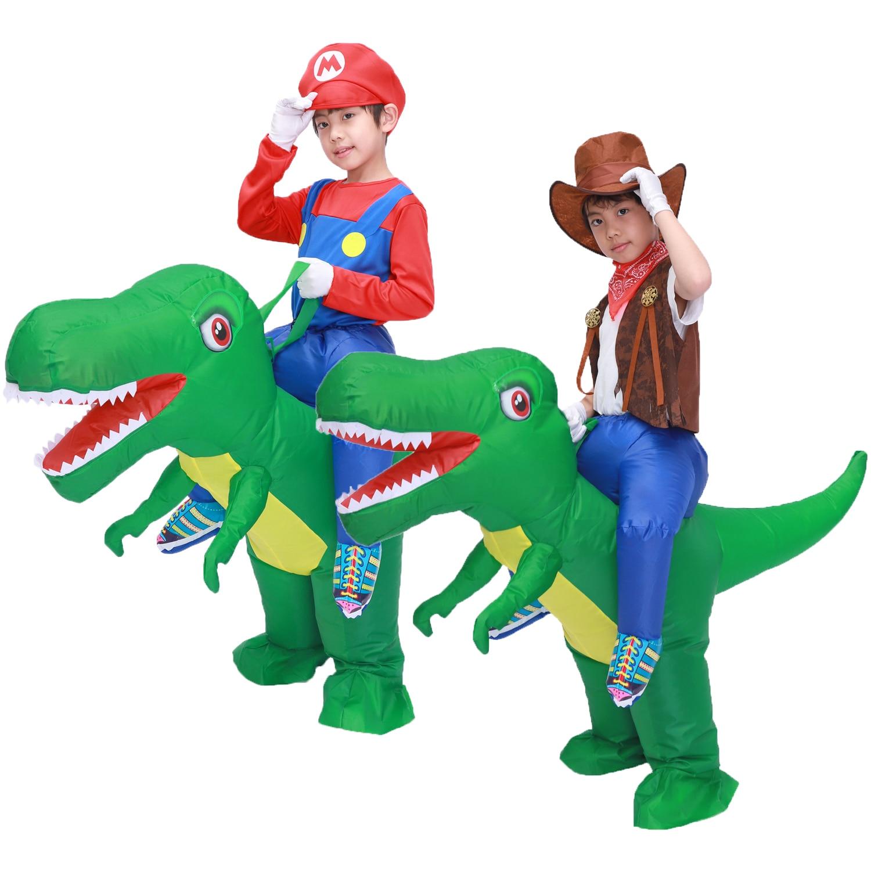 Детский надувной костюм динозавра T Rex для девочек и мальчиков, надувной костюм динозавра на Хэллоуин, для вечевечерние