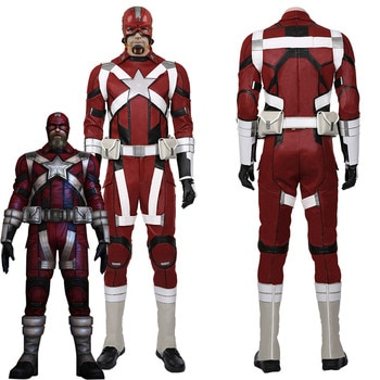 Red Guardian Cosplay Costume Adult Superhero Alexei Shostakov Outfit Halloween Carnival Suit