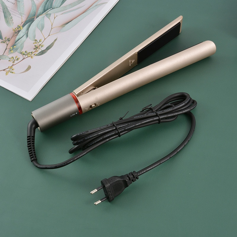 Beauty Fashion Hair Straightener 2 in 1 Curling Hair Titanium Flat Iron Instant Heat Styling Tool  d