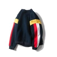 men crewneck sweatshirts casual long sleeve oversized japanese harajuku streetwear male patchwork pullover sweatshirt tops