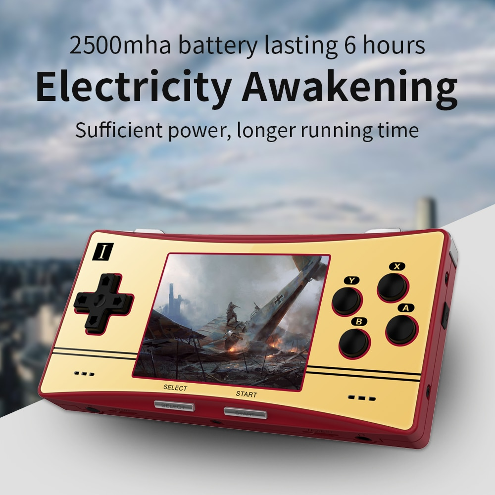 Anbernic-consola de videojuegos portátil RG300X Retro, pantalla IPS de 3,0 pulgadas, soporte HD, 5000 juegos integrados, regalo para niños, PS1