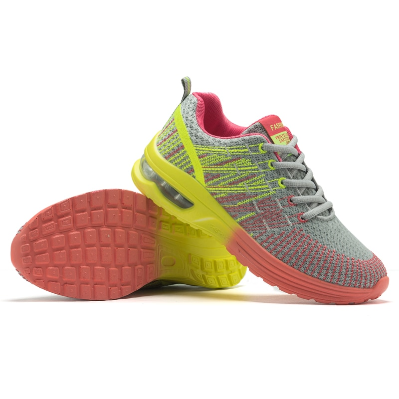 Women Tennis Shoes Air Cushion Breathable Mesh Sneakers Fitness Trainers Sports Shoes Female Walking Height Increase Casual Shoe