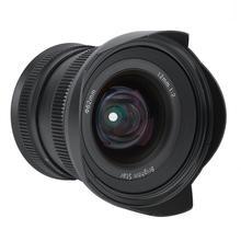 Objectif de caméra sans miroir 12mm f2.0 mise au point manuelle objectif de mise au point fixe Super grand angle pour monture Canon EF-M/Sony E/Fujifilm FX/M4/3