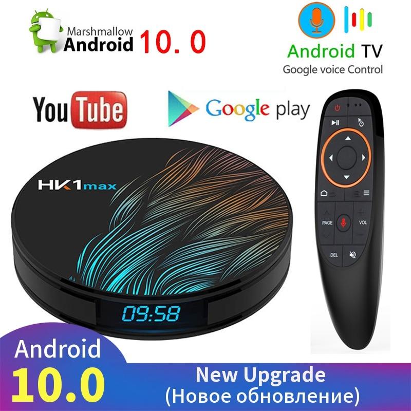 4K Smart TV BOX Android 10.0 4GB 64GB HK1 MAX TV receiver Wifi Media player Google Assistant Fast Set top Box HK1 MAX PK H96 MAX