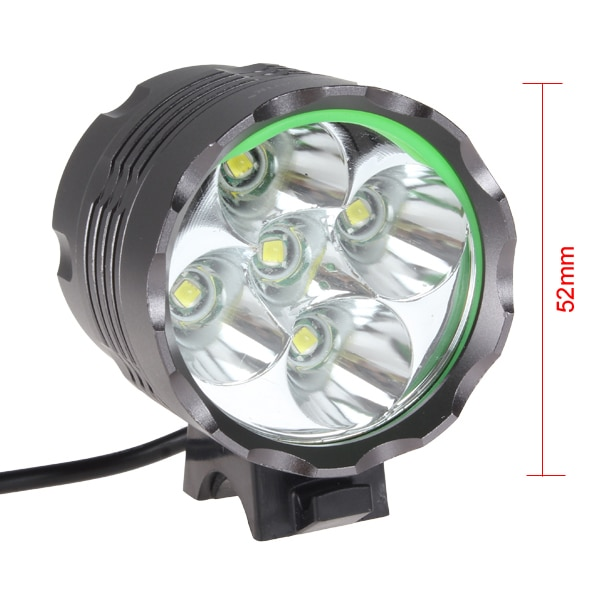 SecurityIng Bicycle Headlights High Power 2500LM 5 x LB-XL T6 LED  Light Headlamp with 8.4V 8000mAh Battery Bicycle Lights enlarge