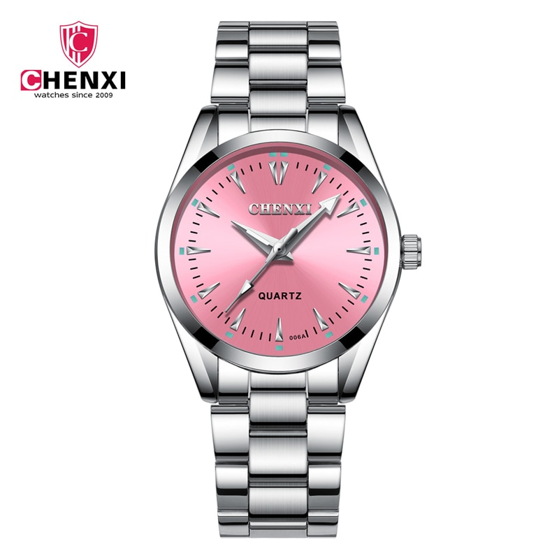 Women Watch Famous Luxury Brands Waterproof Casual Watches For Women Female Stainless Steel Pink Blue Dial Dress Watch Ladies