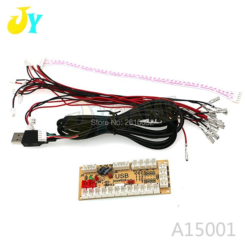 Cero retraso Arcade USB codificador PC Joystick MAME y lucha con los controles de 2,8mm y SANWA botones Push tipo