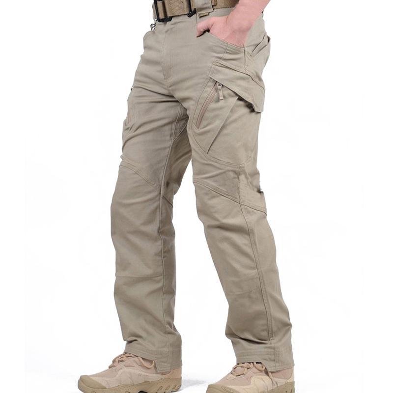 Брюки-карго IX9 мужские тактические, армейские штаны в стиле милитари, много карманов, повседневные штаны в стиле милитари для походов, XXXL