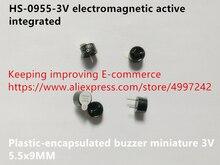 Original nouveau 100% HS-0955-3V électromagnétique actif intégré plastique encapsulé buzzer miniature 3V 5.5x9MM (inducteur)