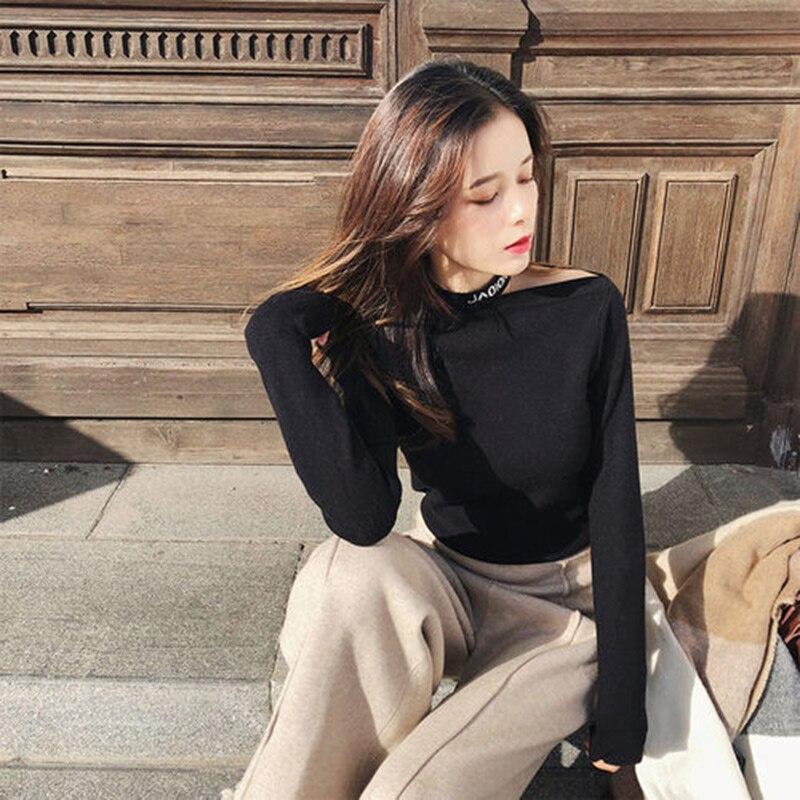 Mishow novas blusas femininas 2008 outono inverno moda sólida manga longa senhora do escritório jumper sólidos pullovers das mulheres topos mx18d5123