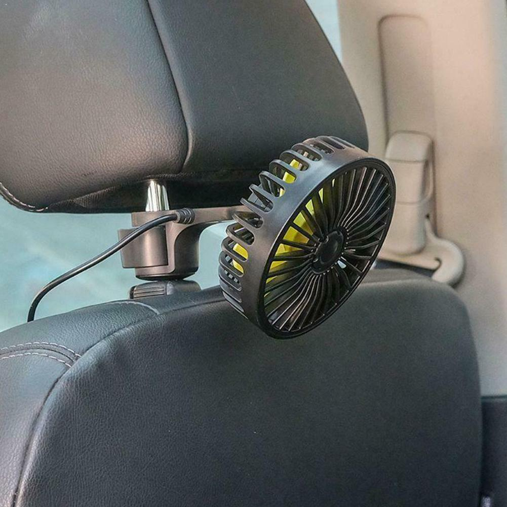 Reposacabezas del asiento trasero del coche 3 velocidades USB ventilador de refrigeración de aire para SUV T0F3