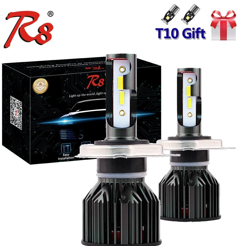 Auto Tricolor Drei Farben Kompakte LED Scheinwerfer Kits H1 H7 H4 H11 9005 9006 9012 9003 HB2 H8 Dual Farbe lampen Weiß Gelb 3000K