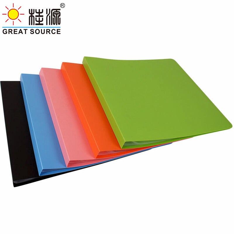 Квадратный поли-карманный Рисование презентации 30 прозрачные карманы Дисплей книга Карамельный цвет Folder350 * 345 мм (13,78