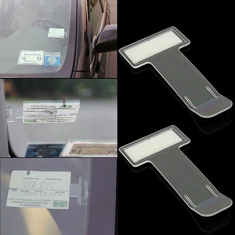 Автомобильный зажим для билета, крепеж из АБС-пластика, Автомобильная застежка, держатель для карт, держатель для банкнот, наклейки на лобов...