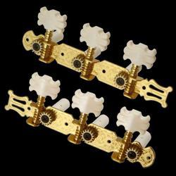 3 em linha corda tuning peg tuners botão de flor para guitarra clássica 3r 3l