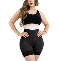 waist trainer faja postparto double pressure shaping shorts slimming fajas lace shaping underwear belly pulling panties corset