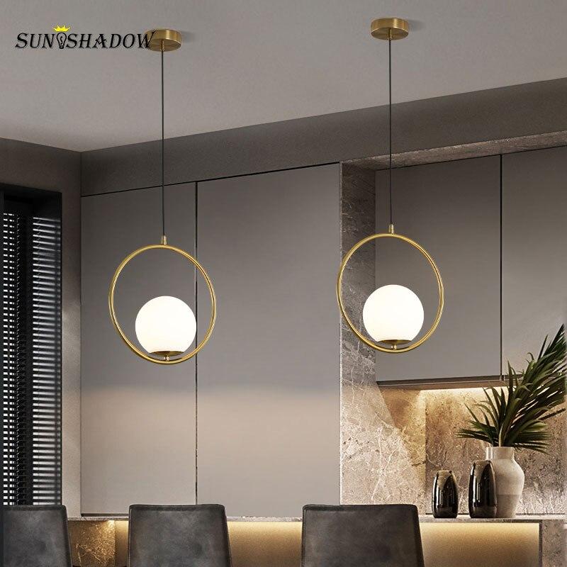 Современный светодиодный подвесной светильник, 110 В, 220 В, комнатный подвесной светильник для столовой, кухни, люстры, гостиной, спальни, Дома...