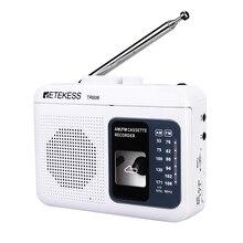 Retekess TR606 FM/AM taşınabilir radyo kaset oynatma ses kaydedici dahili amplifikatör