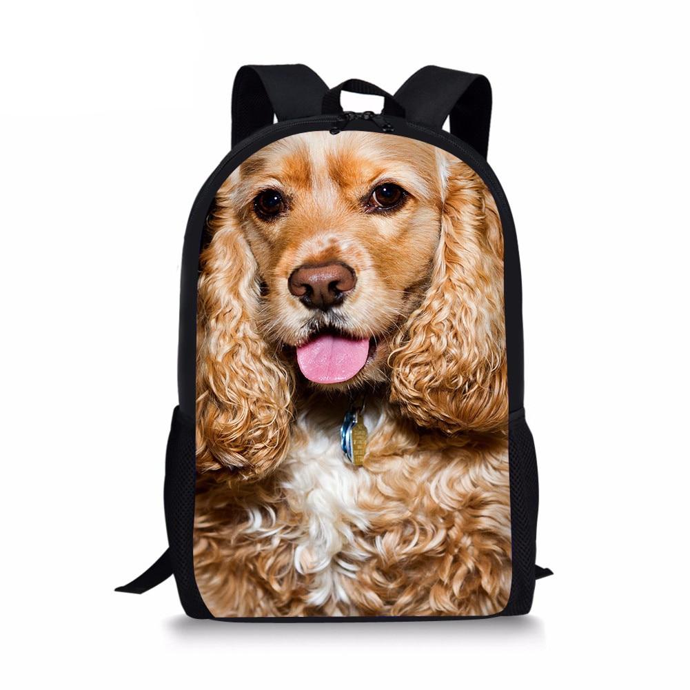 Повседневные женские рюкзаки с принтом Американской плиты спаниеля, Детский рюкзак, повседневный школьный рюкзак для девочек, детский Ране...