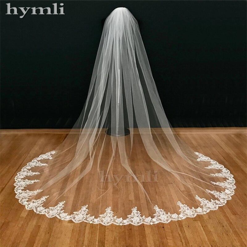 Véu de noiva com 3m de comprimento, fotos reais, acessórios de casamento, branco/marfim, véu de noiva com pente de noiva