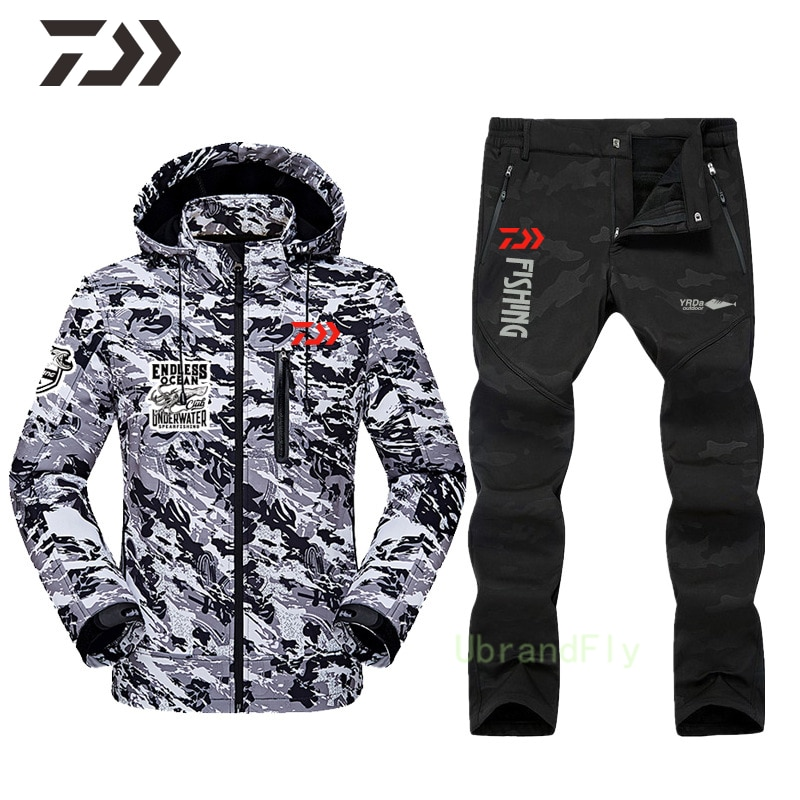 Shimanos Fishing Suit Breathable Camping Mountaineering Fishing Clothes Waterproof Windproof Keep Warm Daiwa Clothing for Man enlarge