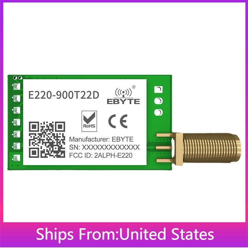 868mhz 915mhz cojxu e43 900t13s3 low cost iot module development board uart wireless transceiver transmitter receiver 2PCS E220-900T22D LoRa Spread Spectrum Wireless UART Module RSSI ISM 868MHz 915MHz 22dBm SMA-K Antenna Transmitter Receiver IoT