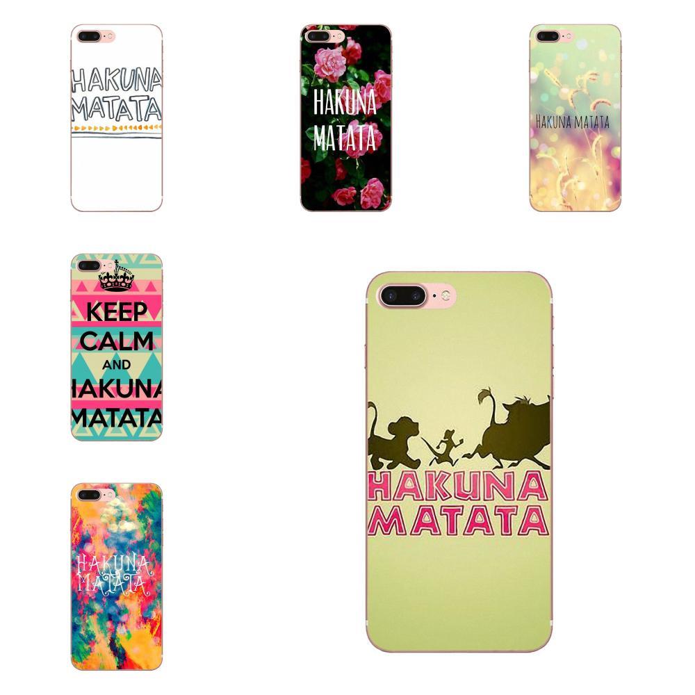 Significado de Hakuna Matata de lujo suave para Samsung Galaxy Note 8 9 10 Pro S4 S5 S6 S7 S8 S9 S10 S11 S11E S20 Edge Plus Ultra