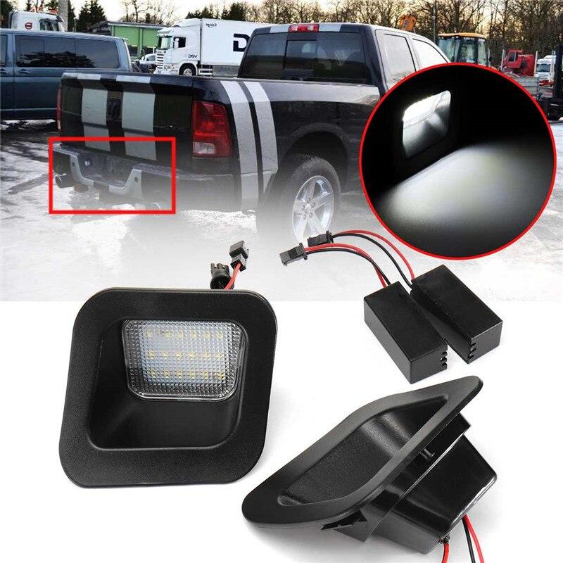 1 par Luzes LED Número Da Matrícula Do Carro Auto Branco Iluminação Da Placa de Licença de Luz para Dodge RAM 1500 2500 3500 2003-2015