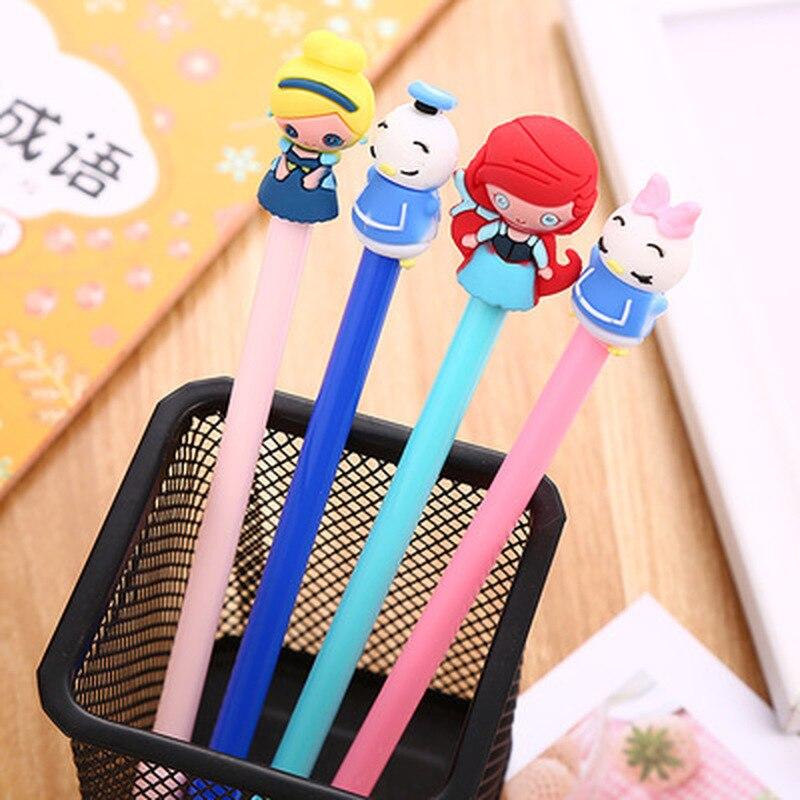 1 piezas de pluma de Gel 0,5mm lindo bolígrafos patito novedad papelería pluma Kawaii estudiante Cute plumas Kawaii de la escuela suministros