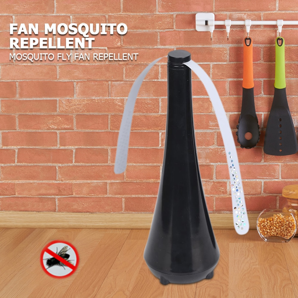 Portable Mini Desk Fan Automatic Electronic Pest Control Fan Blade Mosquito Fly Bugs Repellent Food Protector Mosquito Fly Fan