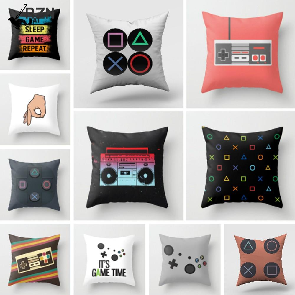 Декоративная наволочка для видеоигр, чехол для дивана, кушетки, кровати, кресла, наволочка, игровой веер, подарок, 45x45 см