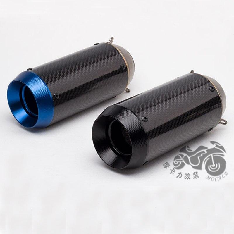 Silenciador de tubo de escape de motocicleta 51mm Akrapovic Yoshimura fibra de carbono CNC de escape con DBkiller para GSXR750 KTM390 CBR300R