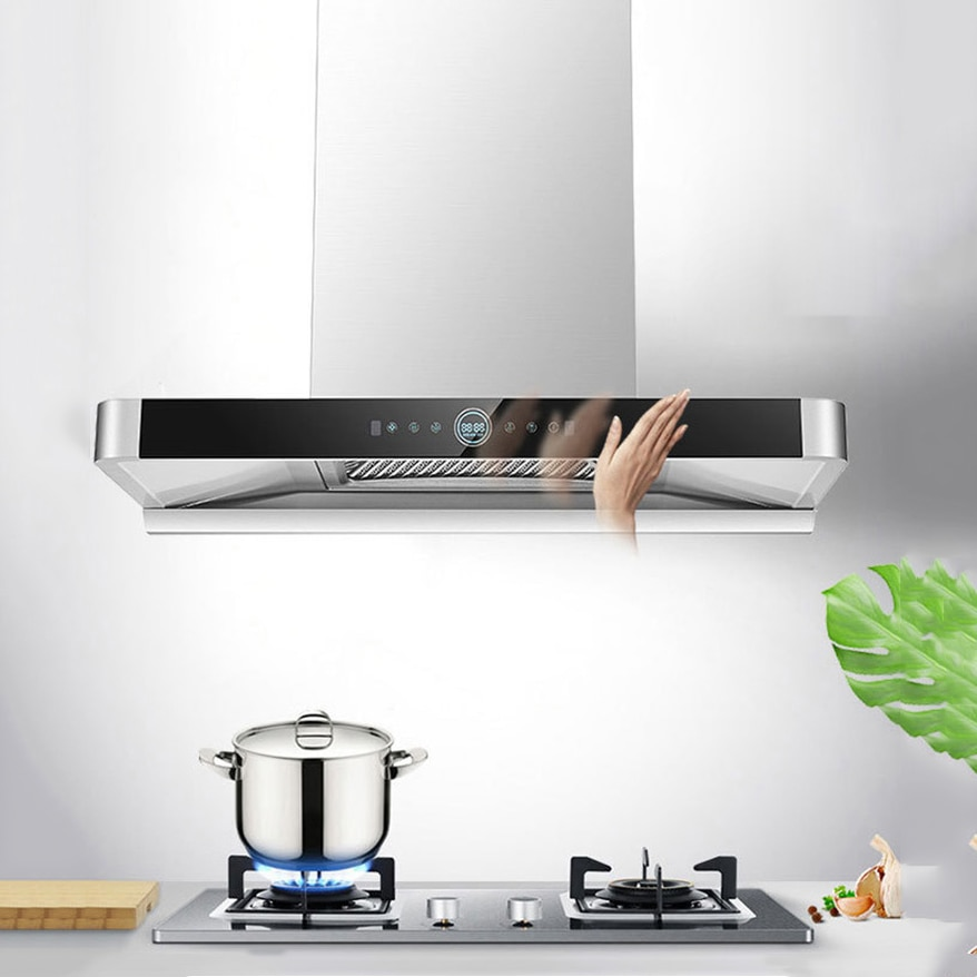 Top Suction Type Range Hood T Type Large Suction Heat Automatic Cleaning Deep Cover Style Wall-mounted Home Electrical Appliance