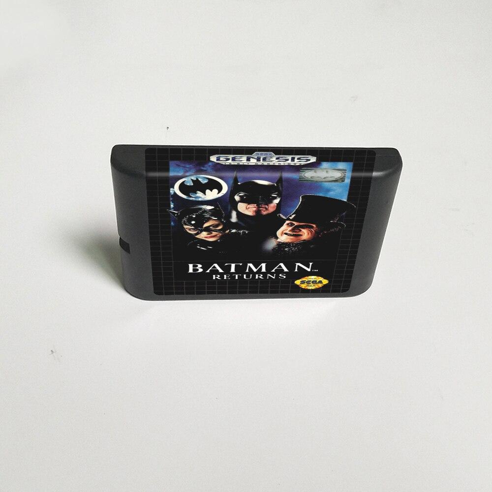 Batman Returns-tarjeta de juego MD de 16 bits para Sega Megadrive Genesis cartucho de consola de videojuegos