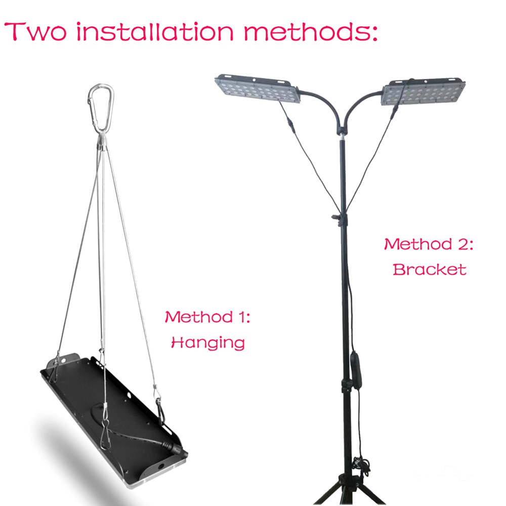 Grow Light with Stand 180W Full Spectrum Phyto Growing Lamp 2-Head 180 LEDs Floor Flower Plant Lamp Adjustable Timer for Indoor enlarge