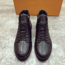 Men's 2021 Spring and Summer New Korean Style Trendy Casual Leather Shoes All-match Black Men's High