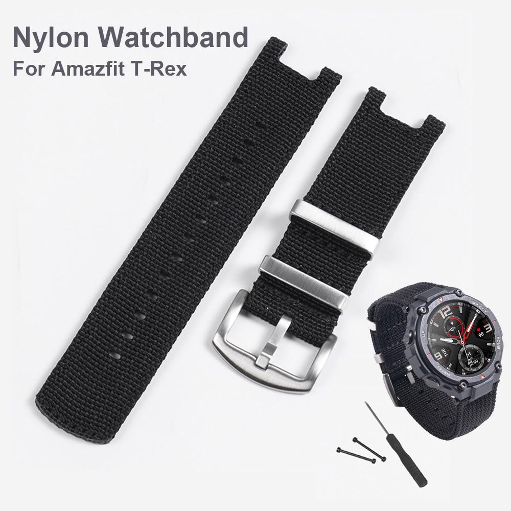 Nylon Watch Strap Correa for Huami Amazfit T-Rex T rex Smartwatch Wrist band Bracelet watchband accessories