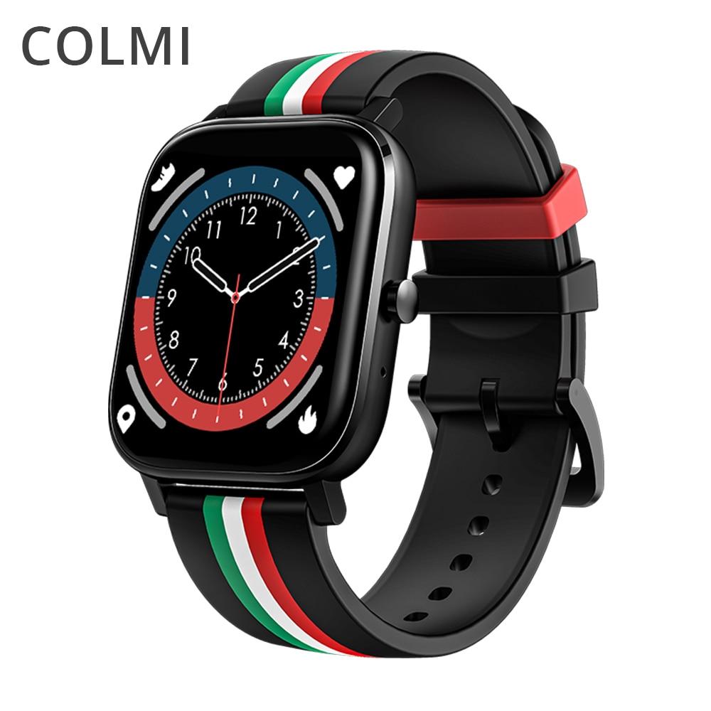 COLMI P12 بلوتوث الإجابة مكالمة ساعة ذكية الرجال كامل اللمس الهاتفي دعوة جهاز تعقب للياقة البدنية IP67 مقاوم للماء 4G ROM Smartwatch