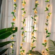 Guirlande lumineuse guirlande lumineuse pour bricolage   2M / 20 String, feuilles de raisin artificielles, guirlande lumineuse guirlande suspendue à piles