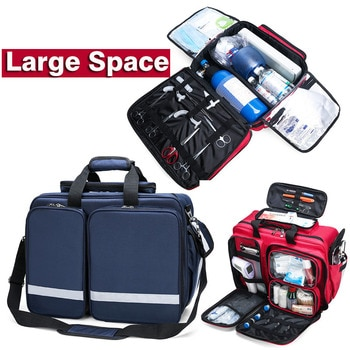 Large Medical Bag First Aid Multi-pocket Portable Messenger Nylon Bag Emergency Medical Rescue Safety Outdoors Family Travel