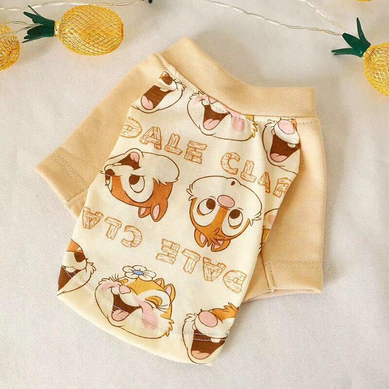 Bonito esquilo impressão pet cachorro camiseta colete para cães pequenos verão filhote de cachorro gato roupas chihuahua yorkshire camisas roupas para animais de estimação roupa