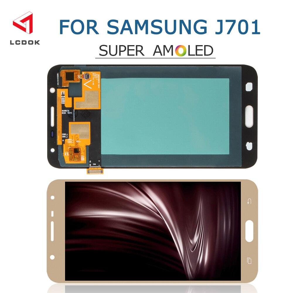 J701 Super AMOLED pantalla LCD para Samsung Galaxy J7 Neo J7 Core J701 J701F J701M pantalla LCD de montaje de digitalizador con pantalla táctil piezas del Panel