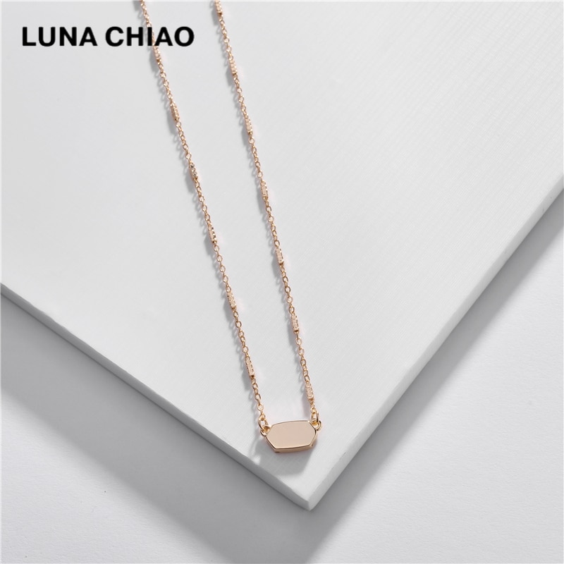 LUNA CHIAO, весна-лето 2020, простой дизайн, Купер, металлическая подвеска, изящное ожерелье для женщин