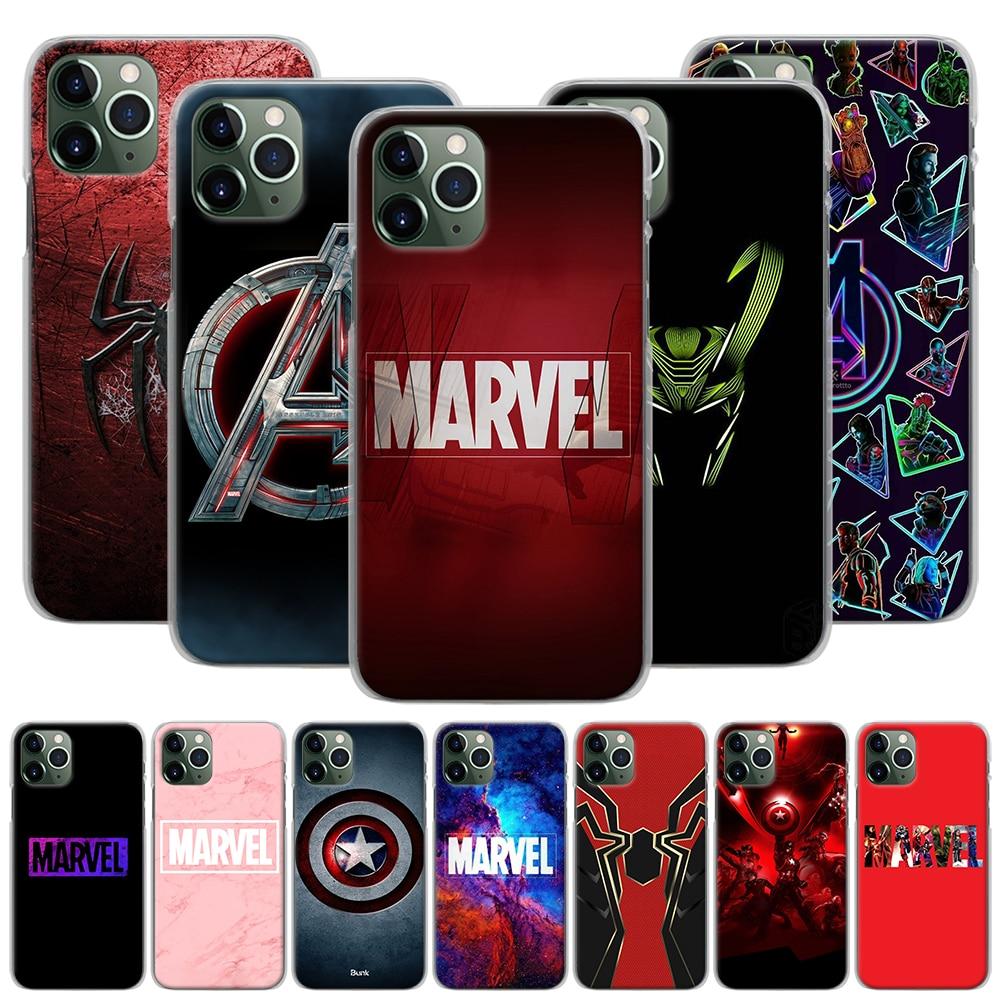 Cartoon Marvel Super Hero Avengers Phone Case for iPhone 11 Pro MAX XR X XS MAX 7 8 Plus 6 6s Plus 5 5s SE Hard Back Case Capa